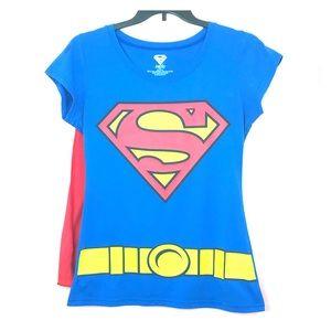 Superman Graphic Logo & Belt w/ Attachable Cape